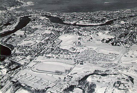 historiske kart trondheim RBKweb   Lerkendal stadion: historiske bilder historiske kart trondheim
